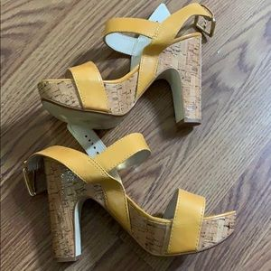Michael Kors mustard yellow heels